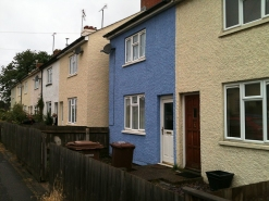 Row houses in Newmarket, England.