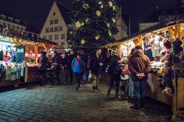 Christmas market in Tallinn, Estonia.