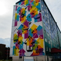Mural by ABOVE in Holma, Malmö