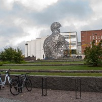 The letter statue in Borås